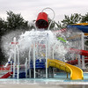 Rod Rose The Lebanon Reporter<br /> SPLASH DOWN: Lebanon's Seashore Pool gets a test run Friday in preparation for opening day.