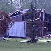 SLAMMED DOWN: A Boone County Sheriff's deputy witnessed this barn get picked up off the ground, then drop back to the ground.