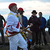 KRISTOPHER RADDER - BRATTLEBORO REFORMER<br /> Two groups of Morris dancers gather at Putney Mountain Summit, in Putney, Vt., just before sunrise to celebrate May Day on May 1, 2018. The tradition in Putney started in the mid-1980s but has been a tradition in England since the 1500s.