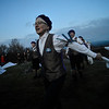 KRISTOPHER RADDER - BRATTLEBORO REFORMER<br /> As the sun slowly rises, members of the Putney Mountain Morris dance at the summit of Putney Mountain, in Putney, Vt., as they celebrate May Day onMay 1, 2018.