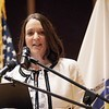 BEN GARVER — THE BERKSHIRE EAGLE<br /> Pittsfield Mayor Linda Tyer speaks at the 2018 State of the City Address at Zion Lutheran Church, Monday, January 8.