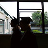 ELODIE REED - FOR THE BERKSHIRE EAGLE McCann Technical School postsecondary students walk to line up before graduation on Thursday.