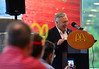 KRISTOPHER RADDER - BRATTLEBORO REFORMER<br /> Peter Napoli, owner of the Napoli Group, talks during the opening celebration of the new McDonald's on Putney Road on Thursday, Sept. 14, 2017.