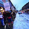 KRISTOPHER RADDER - BRATTLEBORO REFORMER<br /> A group of people walks down Main Street, in Brattleboro, during the  #MeToo Solidarity Rally on Thursday, March 8, 2018.