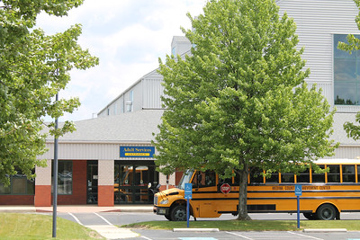 LAWRENCE PANTAGES / GAZETTE A bus is ready for transportation service on Monday at the Medina County Board of Developmental Disabilities complex at 4691 Windfall Road, Granger Township.