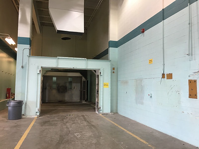 PHOTO PROVIDED The old paint booth in the auto collision technology laboratory.
