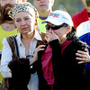 "Diane Molina, left, comforts, Maria Walton, during the memorial service. Walton was the girlfriend of Micah True.<br /> A memorial service was held Friday for Boulder  ultrarunner, Micah True, at Chautauqua Park.<br /> For photos and a video of the service, go to  <a href=""http://www.dailycamera.com"">http://www.dailycamera.com</a>.<br /> Cliff Grassmick / April 6, 2012"