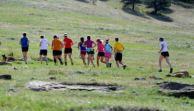 Area runners do a run for Micah True before the memorial service. A memorial service was held Friday for Boulder  ultrarunner, Micah True, at Chautauqua Park. For photos and a video of the service, go to www.dailycamera.com. Cliff Grassmick / April 6, 2012
