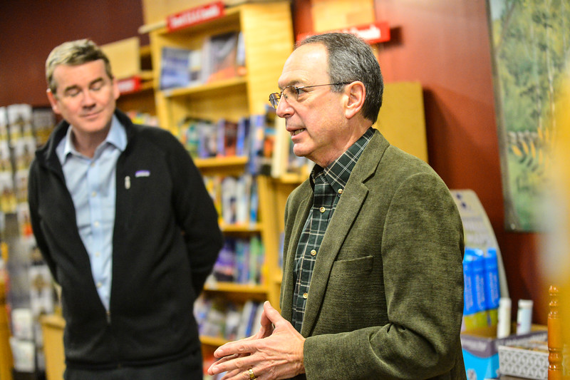KRISTOPHER RADDER — BRATTLEBORO REFORMER<br /> Democratic presidential candidate Sen. Michael Bennet, D-Colo., holds a town hall meeting at Toadstool Bookshop, in Keene, N.H., on Friday, Dec. 20, 2019.