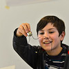 KRISTOPHER RADDER — BRATTLEBORO REFORMER<br /> Walter Hagedorn hosted a Mini Spin Art 1000 Upcycle Builder's Workshop at the River Gallery School on Wednesday, April 17, 2019.  Students build the motor and the housing unit in a spin art machine. Hagedorn is hosting another class on Saturday at 1 p.m. at the River Gallery School of Art.