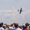 Fans watch the Air National Guard plane of John Klatt during Saturday's air show. Photo by Trevor Cokley