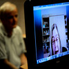 Lenore Walker testifies over Skype from Florida during the case of Molly Midyette at the Boulder County Justice Center on Friday 28, 2011.<br /> Photo by Paul Aiken
