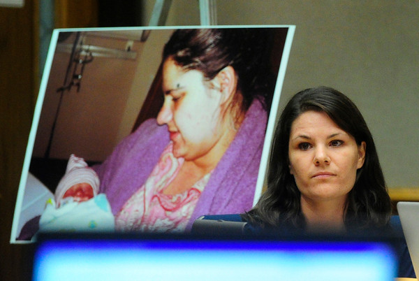 MIDYETTE<br /> Molly Midyette listens to her lawyer's opening statement during the first day of her hearing on Monday.<br /> <br /> PHOTO BY MARTY CAIVANO<br /> OCT.24, 2011