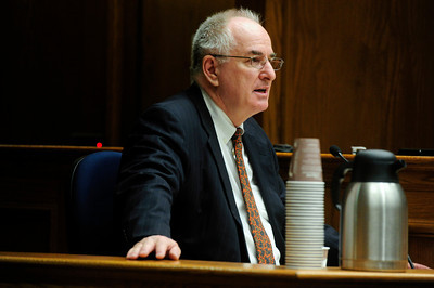 MIDYETTE Craig Truman, who had been Molly Midyette's attorney during her first trial, testifies during her hearing on Monday.  PHOTO BY MARTY CAIVANO OCT.24, 2011