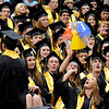 "Monarch High School graduates play with a beach ball during Monarch's graduation ceremony on Friday, May 20, at the Coors Events Center on the University of Colorado campus in Boulder. For more photos and video of the graduation go to  <a href=""http://www.dailycamera.com"">http://www.dailycamera.com</a><br /> Jeremy Papasso/ Camera"