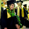 "Monarch High School graduate Megan Somers sits on the steps before Monarch's graduation ceremony on Friday, May 20, at the Coors Events Center on the University of Colorado campus in Boulder. For more photos and video of the graduation go to  <a href=""http://www.dailycamera.com"">http://www.dailycamera.com</a><br /> Jeremy Papasso/ Camera"