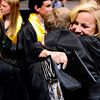 "Monarch High School graduate Haley Schumacher hugs her friend and fellow graduate Austin Roberts after Monarch's graduation ceremony on Friday, May 20, at the Coors Events Center on the University of Colorado campus in Boulder. For more photos and video of the graduation go to  <a href=""http://www.dailycamera.com"">http://www.dailycamera.com</a><br /> Jeremy Papasso/ Camera"