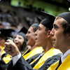 "Monarch High School graduate Tanner Barkin gives a fist pump after a student speech during Monarch's graduation ceremony on Friday, May 20, at the Coors Events Center on the University of Colorado campus in Boulder. For more photos and video of the graduation go to  <a href=""http://www.dailycamera.com"">http://www.dailycamera.com</a><br /> Jeremy Papasso/ Camera"