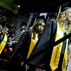 "Monarch High School graduate Brenna Ely, right, waits to receive her diploma during Monarch's graduation ceremony on Friday, May 20, at the Coors Events Center on the University of Colorado campus in Boulder. For more photos and video of the graduation go to  <a href=""http://www.dailycamera.com"">http://www.dailycamera.com</a><br /> Jeremy Papasso/ Camera"