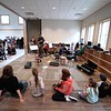 BEN GARVER — THE BERKSHIRE EAGLE<br /> Students at the Montessori School in Lenoxdale perform for visiting parents at an open house celebrating the addition of this music room and a gym to the school.