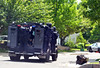 Members of a Central Montgomery County tactical response team travel on Harvard Drive following a shooting.  Monday, June 2, 2014.  Photo by Geoff Patton