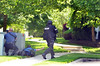 Responding  police officers take postions near a Harvard Drive in Montgomery Township residence following a shooting.   Monday, June 2, 2014.   Photo by Geoff Patton