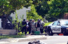 Members of a Central Montgomery County tactical response team gather  on Harvard Drive following a shooting.  Monday, June 2, 2014.  Photo by Geoff Patton
