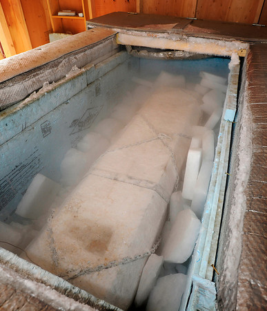 "The casket of Grandpa ""Bredo Morstoel"" is packed with dry ice on Monday, Oct. 22, in Nederland. For a video on how Grandpa Bredo Morstoel is kept frozen go to  <a href=""http://www.dailycamera.com"">http://www.dailycamera.com</a><br /> Jeremy Papasso/ Camera"