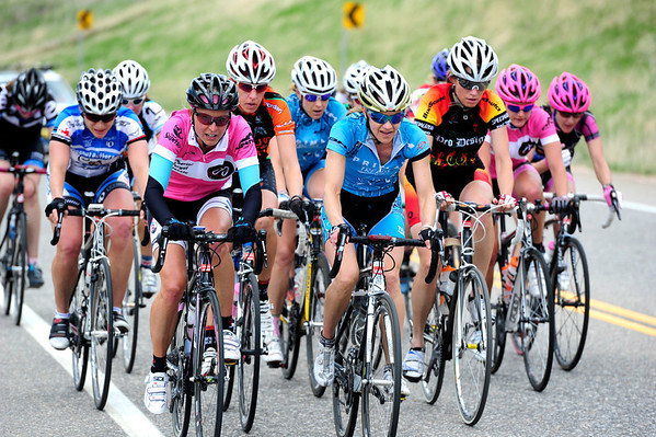 "MORGUL<br /> The Pro/1/2/3 category women's race charges up ""The Wall"" during the Morgul Bismarck circuit race at the Superior Morgul Classic on Sunday.<br /> Photo by Marty Caivano/May 29, 2011"