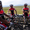 MORGUL<br /> Left to right, Ciro Zarate, Ryan Taylor and Peter Schimpf relax after the Morgul Bismarck circuit race at the Superior Morgul Classic in Superior on Sunday.<br /> Photo by Marty Caivano/May 29, 2011