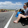 MORGUL<br /> Taylor Self watches for her friends while spectating at the Morgul Bismarck circuit race at the Superior Morgul Classic in Superior on Sunday.<br /> Photo by Marty Caivano/May 29, 2011