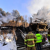 KRISTOPHER RADDER — BRATTLEBORO REFORMER<br /> Multiple crews battled fully involved structure fire at 6762 on Route 30, in West Townshend, just before 1 a.m. on Tuesday, Jan. 22, 2019. The building is a total loss but no injuries were reported. The cause of the fire is currently being investigated.
