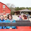 BEN GARVER — THE BERKSHIRE EAGLE<br /> Guests gather on a wagopn for a ride to  Mother's Day brunch at Holiday Brook Farm complete with music.