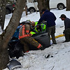 KRISTOPHER RADDER - BRATTLEBORO REFORMER <br /> A female driver was transported to Brattleboro Memorial Hospital for unknown injuries after she lost control of her vehicle while traveling south on Route 5, in Dummerston, on Tuesday, Feb. 6, 2018. . According to the Vermont State Police, the vehicle went airborne twice before hitting a tree. The incident happened around 2 p.m. with volunteers from the West Dummerston Fire Department assisting.