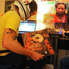 "Radio_5.jpg Jeep MacNichol chooses what record to play next as he broadcasts a weekly reggae pirate radio show called Mr. Anonymous Internet Radio on Monday, December 10, 2012 at his Denver home. Listeners can find him and his co-host, James ""Butchy"" Stapleton, them online or broadcasted by Boulder's Green Light Radio. The duo has followers from around the world and play records from MacNichol's personal collection that he has been working on since he was in the eighth grade. (Kira Horvath/Longmont Times-Call)"