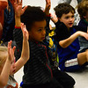 "KRISTOPHER RADDER - BRATTLEBORO REFORMER<br /> Zeb Doku, a pre-kindergarten at Guilford Central School, holds his hands up as the class sings ""My Bonnie Lies over the Ocean,"" on Tuesday, May 22, 2018."