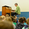 KRISTOPHER RADDER - BRATTLEBORO REFORMER<br /> Ellen Rowe, a music professor at the University of Michigan, visited students at Guilford Central School on Tuesday, May 22, 2018.