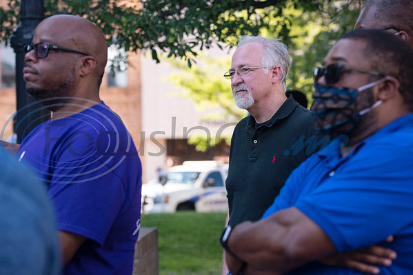 Tyler Mayor Martin Heines a press conference held by the NAACP Branch #6232 Tyler to discuss the chapter's position on racial issues on the downtown square in Tyler on Wednesday, June 3, 2020.