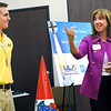 "NASA Deputy Administrator Lori Garver, right, answers questions from the crowd while Kyle Whitlow, an intern with United Launch Alliance listens,   during her visit to Ball Aerospace & Technologies Corp. in Boulder, Colo., on Tuesday, July<br /> 26<br /> For more photos and a video of the event go to  <a href=""http://www.dailycamera.com"">http://www.dailycamera.com</a><br /> Photo by Paul Aiken / The Camera / July 26, 2011"