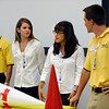"Second from right Natascha Trellinger, and ULA intern from Boulder, describes part of the rocket her team designer during a presentation for NASA Deputy Administrator Lori Garver who visted Ball<br /> Aerospace & Technologies Corp. in Boulder, Colo., on Tuesday, July<br /> 26. Other ULA interns from left to right are Jorge Torres, University of Colorado student Elyssa Kaszynski and Kyle Whitlow.<br /> For more photos and a video of the event go to  <a href=""http://www.dailycamera.com"">http://www.dailycamera.com</a><br /> Photo by Paul Aiken / The Camera / July 26, 2011"