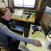 "Cora Young monitors the progress of the instrument elevator.<br /> NOAA is using their Erie tower to study the effects of nitryl chloride on the atmosphere during the nighttime of winter.<br /> For a video and photos  of the NOAA press briefing, go to  <a href=""http://www.dailycamera.com"">http://www.dailycamera.com</a>.<br /> Cliff Grassmick/ March 1, 2011"