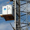 "The instrument carrier goes up and down the 300-meter tower taking a variety of readings.<br /> NOAA is using their Erie tower to study the effects of nitryl chloride on the atmosphere during the nighttime of winter.<br /> For a video and photos of the NOAA press briefing, go to  <a href=""http://www.dailycamera.com"">http://www.dailycamera.com</a>.<br /> Cliff Grassmick/ March 1, 2011"