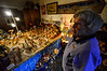 Shirley Squires, Guilford, Vt., resident, shows off a Nativity scene that is made up of 180 pieces the depict the village of Bethlehem.  Kristopher Radder / Reformer Staff