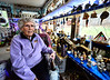 """Shirley Squires, Guilford, Vt., resident, said she started her collection in 1994 after her husband and one of their children died. """"They died around Christmas time, I think it (Nativity scenes) gave me something to think about, I liked the meaning of the Nativity scene,"""" said Squires.  Kristopher Radder / Reformer Staff"""