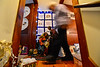 Shirley Squires, Guilford, Vt., resident, dusts around and prepares the Nativity scenes on Friday, Nov. 25, 2016, as she gets ready to open them up to the public on December 5.  Kristopher Radder / Reformer Staff