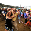 "Amy Tharp, of Centennial, dances with Roger Jimenez, of Fort Collins, during the NedFest music festival on Saturday, Aug. 27, in Nederland. For more photos and video of the event go to  <a href=""http://www.dailycamera.com"">http://www.dailycamera.com</a><br /> Jeremy Papasso/ Camera"