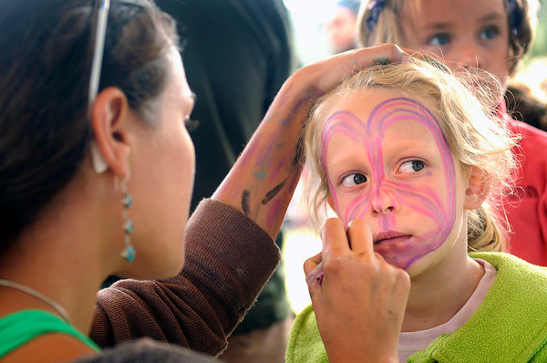 """Myah Hinshaw, 6, of Colorado Springs, gets her face painted during the NedFest music festival on Saturday, Aug. 27, in Nederland. For more photos and video of the event go to  <a href=""""http://www.dailycamera.com"""">http://www.dailycamera.com</a><br /> Jeremy Papasso/ Camera"""