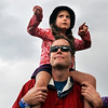 "Matt Sanders, of Boulder, holds his daughter Allison on his shoulders during the NedFest music festival on Saturday, Aug. 27, in Nederland. For more photos and video of the event go to  <a href=""http://www.dailycamera.com"">http://www.dailycamera.com</a><br /> Jeremy Papasso/ Camera"