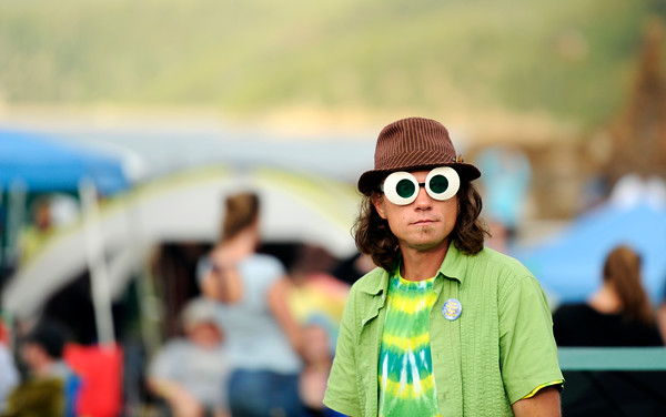 "Harold Blehm, of Denver, wears his funky glasses during the NedFest music festival on Saturday, Aug. 27, in Nederland. For more photos and video of the event go to  <a href=""http://www.dailycamera.com"">http://www.dailycamera.com</a><br /> Jeremy Papasso/ Camera"