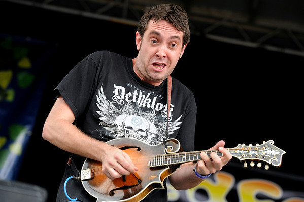 """Jeff Austin, of Yonder Mountain String Band, jams away on his mandolin while playing with Split Lip Rayfield during the NedFest music festival on Saturday, Aug. 27, in Nederland. For more photos and video of the event go to  <a href=""""http://www.dailycamera.com"""">http://www.dailycamera.com</a><br /> Jeremy Papasso/ Camera"""